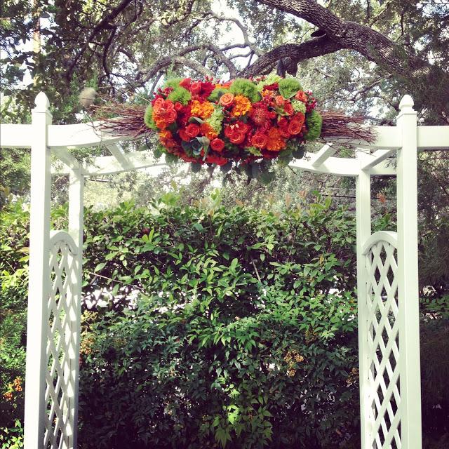 Wedding Altar Flowers With Eucalyptus: Green Pastures Restaurant – Disch Events