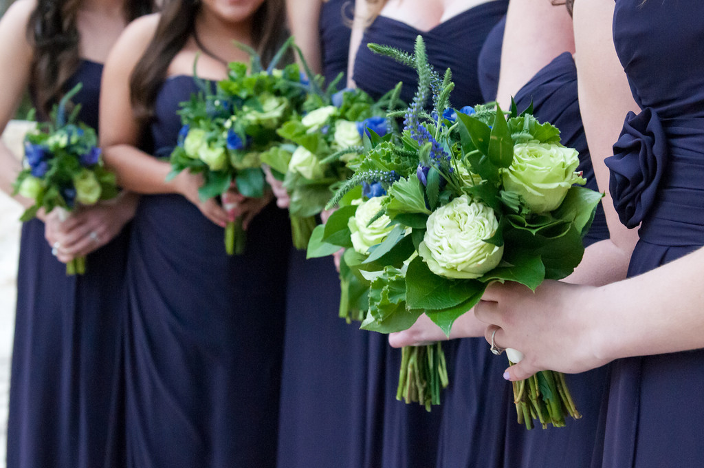 Bridesmaids Boquets blue veronica