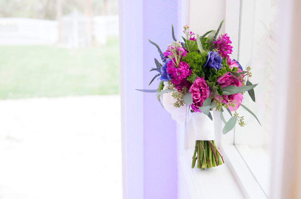 Bridal Boquet Jewel Tones