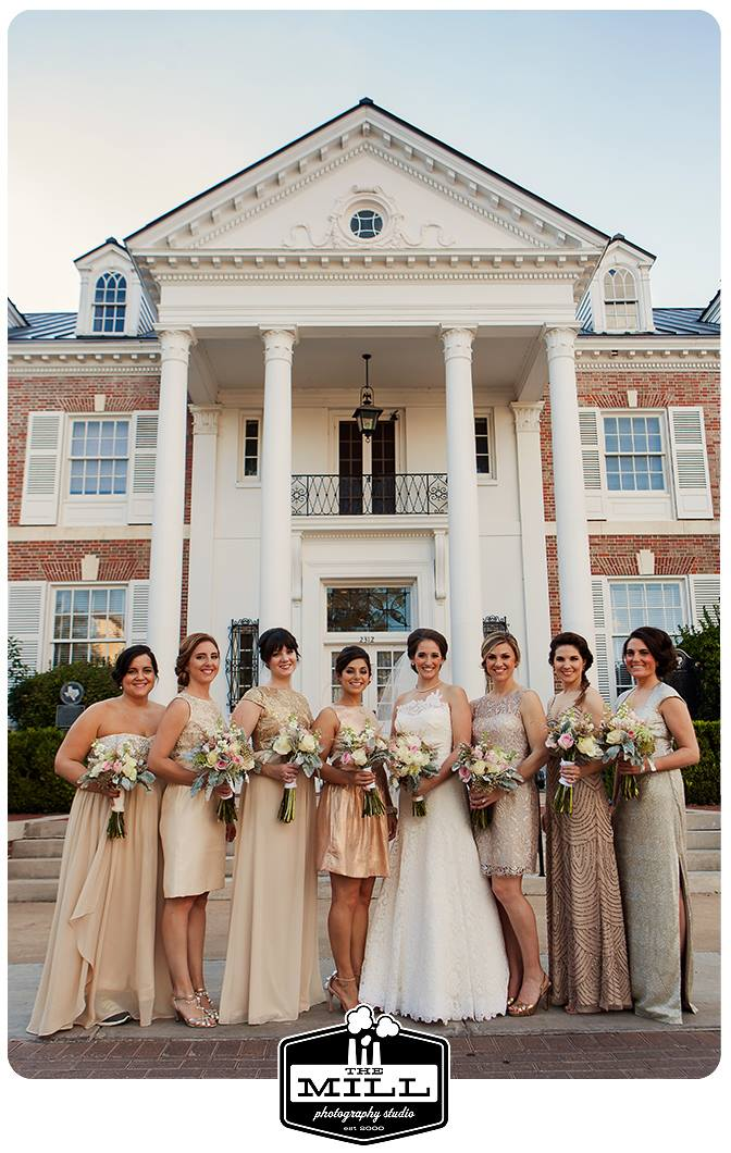Bridal Party Boquets at The Mansion