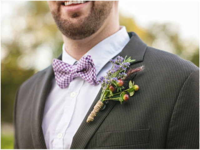 boutonniere with twine wrap
