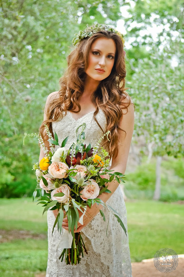 BoHo Bridal Boquet Styled Shoot