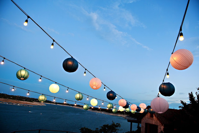 Festoons with Colored Japanese Lanterns Natures Point